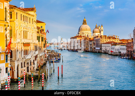Grand Canal at sunset - Stock Photo