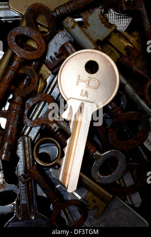 padlock with keys at a door stock photo royalty free image 12222296 alamy. Black Bedroom Furniture Sets. Home Design Ideas