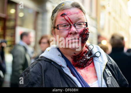2013 Stockholm Zombie Walk - Stock Photo