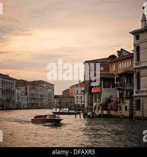 Water Taxi on the Grand Canal, Venice, Italy, Europe. - Stock Photo
