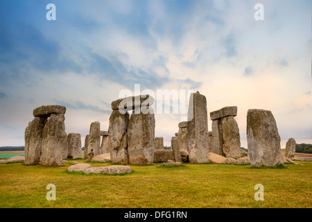 Stonehenge, Amesbury, Wiltshire, England, United Kingdom - Stock Photo