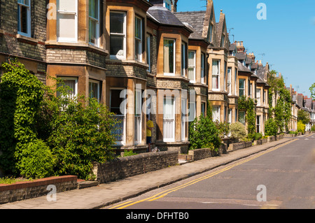 A typical street in cambridge stock photo royalty free for English terrace