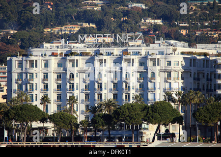 The city of Cannes, Martinez Palace hotel, Alpes-Maritimes, French Riviera, Côte d´Azur, France, Europe - Stock Photo