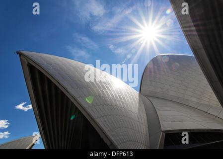 detail of sydney opera house landmark in australia - Stock Photo