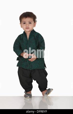 Portrait of a 5 year old indian boy - Stock Photo