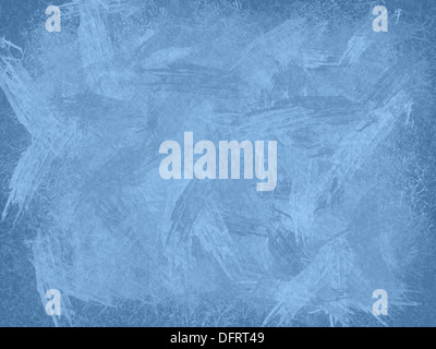 Blue ice illustration as abstract background, horizontal - Stock Photo
