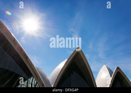 sydney opera house landmark detail in australia - Stock Photo