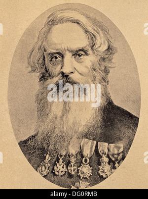 Samuel Morse, inventor of the telegraph (1791-1872) - Stock Photo