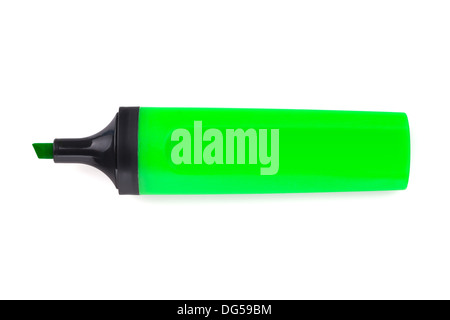 Green highlighter. Isolated on white background - Stockfoto