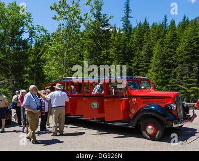 Tour Bus Of Park Visitors Travel The Denali Park Road