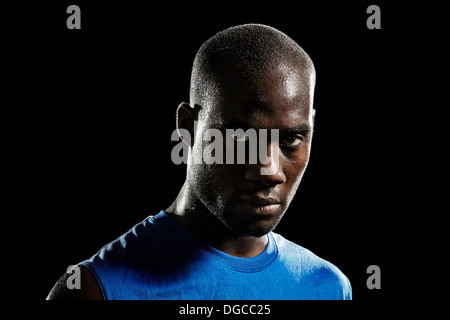 Close up shot of basketball player - Stock Photo
