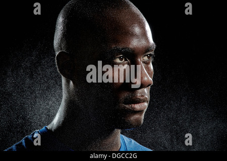 Close up portrait of basketball player - Stock Photo