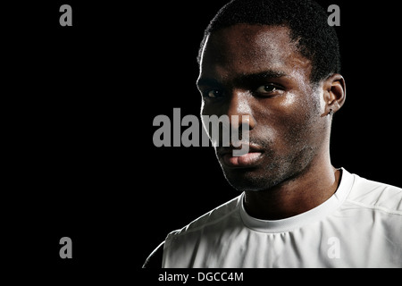 Close up portrait of male basketball player - Stock Photo
