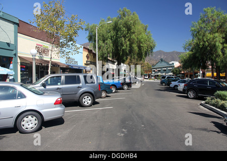 Downtown Sierra Madre, California - Stock Photo