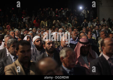 Gaza City, Gaza Strip, Palestinian Territory, . 19th Oct, 2013. Palestinian prime minister in Gaza strip, Ismail - Stock Photo