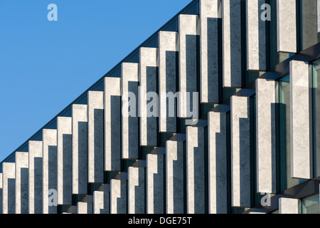 City modern abstract - Architecture of a modern building - Stock Photo