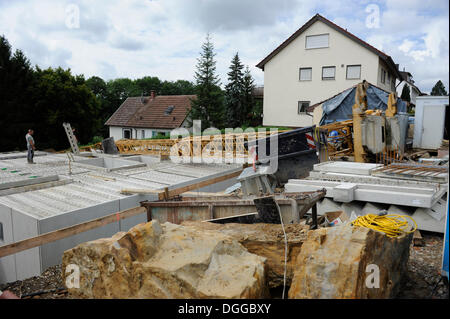 Building of a house crane shell stock photo royalty for Building onto a house