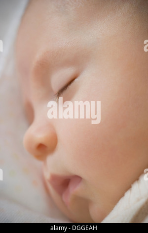 Baby boy sleeping, close up - Stock Photo