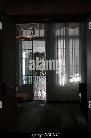Hotel room with balcony, Lido di Venezia, Venice, Veneto, Italy, Europe - Stock Photo
