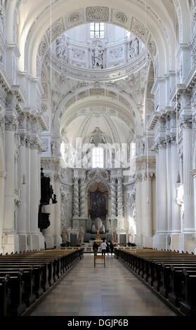 Theatinerkirche Theatine Church, Munich, Bavaria - Stock Photo