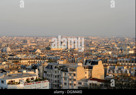 View from Montmartre on the church Église Saint-Vincent de Paul, Paris, France, Europe - Stock Photo