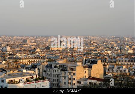 View from Montmartre on the church Église Saint-Vincent de Paul, Paris, France, Europe - Stock Photo