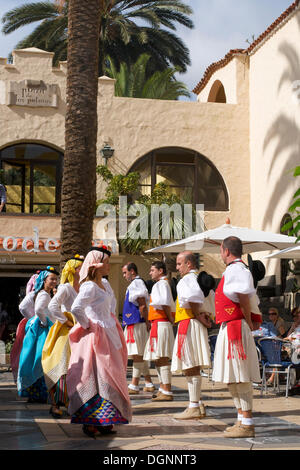 Folklore festival in Las Palmas, Gran Canaria, Canary Islands, Spain, Europe - Stock Photo