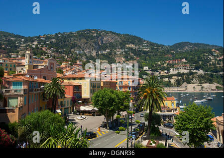 Old town of Villefranche-sur-Mer, Villefranche-sur-Mer, French Riviera, Alpes-Maritimes, Provence-Alpes-Côte d'Azur, - Stockfoto