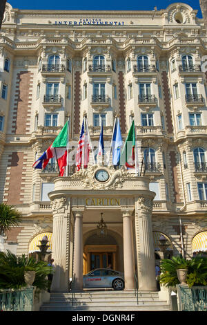 Carlton Hotel on the Croisette, Cannes, French Riviera, Alpes-Maritimes, Provence-Alpes-Côte d'Azur, France - Stock Photo