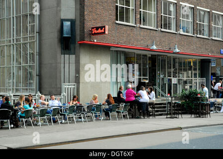 Street cafe terrace with tables and chairs in european for Terrace 6 pub indore