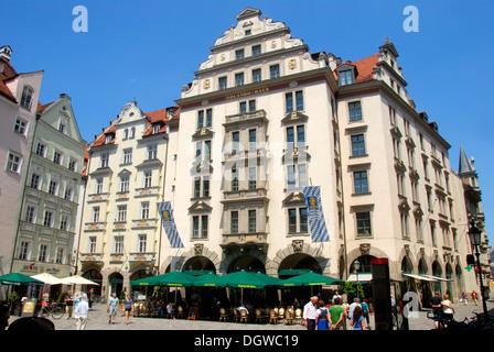 Orlando Haus orlando haus at the platzl munich bavaria germany stock photo