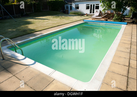 House Garden Large Swimming Pool Green Algae Cloudy Water Stock Photo 62027753 Alamy
