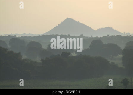 Monsoon near Devigarh, near Udaipur, Rajasthan, India, Asia - Stock Photo