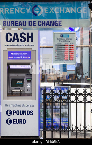 foreign currency exchange machine in london underground station stock photo royalty free image. Black Bedroom Furniture Sets. Home Design Ideas