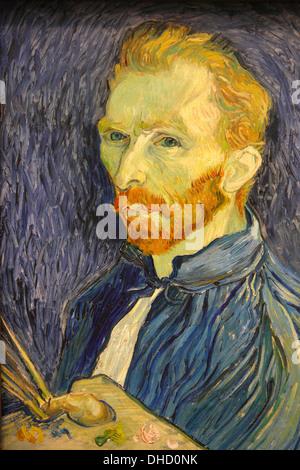 Selfportrait by Van Gogh, National Gallery of Art, Washington D.C., USA - Stock Photo