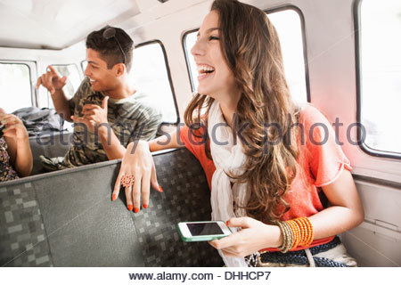 Friends on road trip - Stock Photo