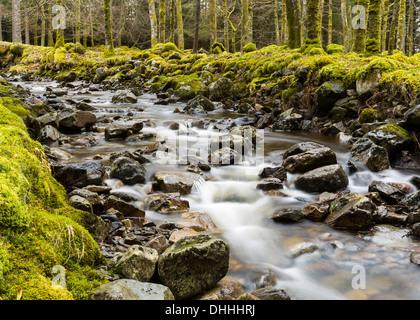 River Ossian, Corrour, Highlands, Scotland, United Kingdom - Stock Photo