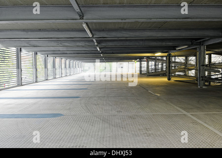 Parking spaces in the parking garage - Stock Photo