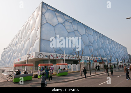 Beijing National Aquatics Center commonly known as Water Cube - Stock Photo