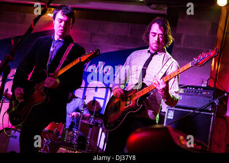 Milan Italy. 19th November 2013. The American indie-rock band CAVEMAN performs live at the Salumeria Della Musica - Stock Photo