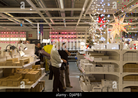 Customers at the lighting department of ikea department for Ikea shops london