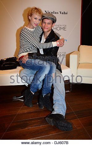 vinzenz kiefer and girlfriend masha tokareva aftershow party for the stock photo royalty free. Black Bedroom Furniture Sets. Home Design Ideas