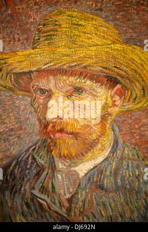 Selfportrait by Van Gogh, Metropolitan Museum, New York City, USA - Stockfoto