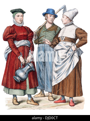 a look at the costumes of men and women in the 16th century At the beginning of the 16th century, women's fashions were still shifting out of the medieval period women's clothes from the 1500s the chemise or standard body garment was the same for both men and women.