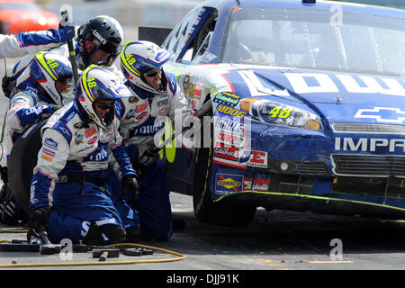 Aug. 08, 2010 - Watkins Glen, New York, United States of America - August 8, 2010: The crew for driver JIMMY JOHNSON - Stock Photo