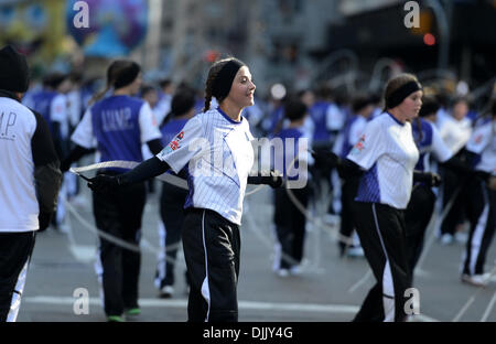 New York, USA. 28th November 2013. People attend the Macy's Thanksgiving Day Parade in New York, the United States, - Stock Photo