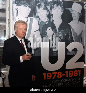 Patrick Brocklebank U2 Manager Paul McGuinness officially opened photography exhibition U2:1978-81 at Little Museum - Stock Photo