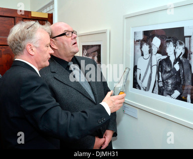 Patrick Brocklebank and Paul McGuinness U2 Manager Paul McGuinness officially opened photography exhibition U2:1978 - Stock Photo