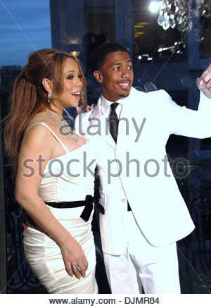 Mariah Carey and husband Nick Cannon celebrity couple celebrate their fourth anniversary of marriage Paris France - Stock Photo