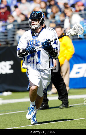 Mar. 06, 2010 - Baltimore, Maryland, U.S - 06 March 2010: Duke Attack Zach Howell  #21 action during the Duke versus - Stock Photo